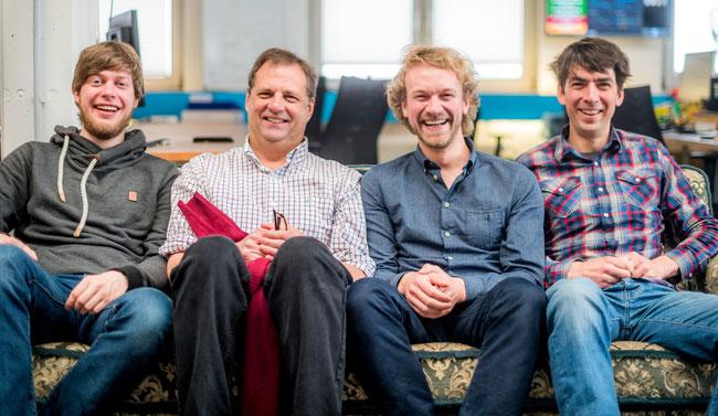 Christian Springub, Fridtjof Detzner et Matthias Henze, fondateurs Jimdo
