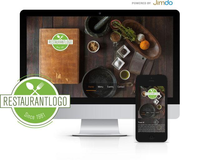 """Offre """"Logo + 99designs"""", résultat du partenariat entre Jimdo et 99designs."""