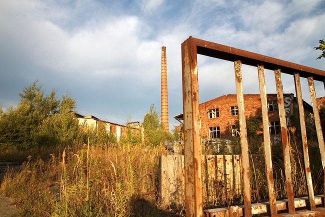 Alten Glasfabrik von Haidemühl