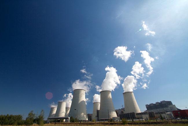 Kühltürme des Braunkohlenkraftwerks Jänschwalde