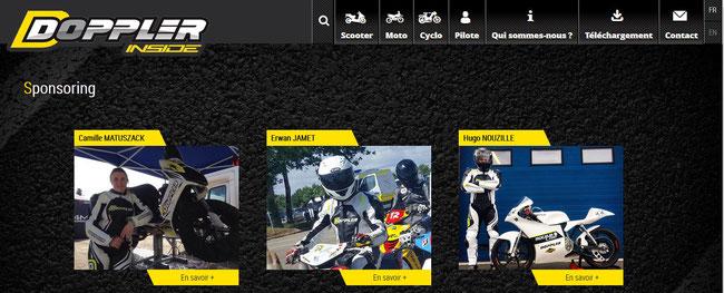 Cliquez sur l'image pour découvrir les pilotes qui font déjà confiance aux produits Doppler Inside, ainsi que les différents produits de la marque sur leur nouveau site internet.
