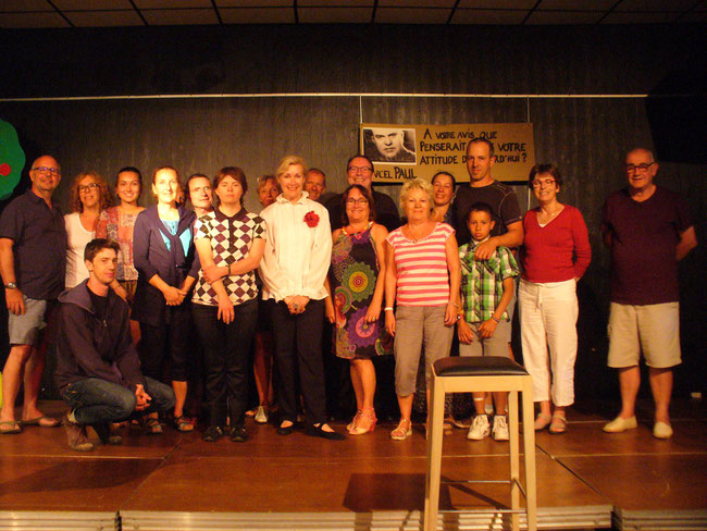 CCAS des Sables d'Olonne, Août 2016. Le public monte sur scène avec nous.
