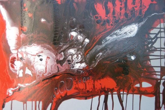 ohne Titel, 60 x 90 cm, Acryllack, Acrylfarbe