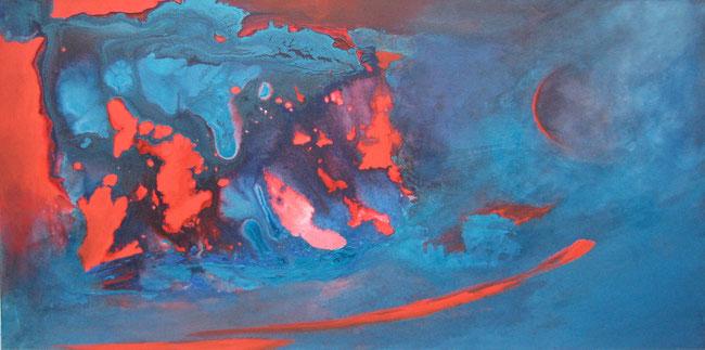 Ohne Titel, 50 x 100 cm, Acrylfarbe