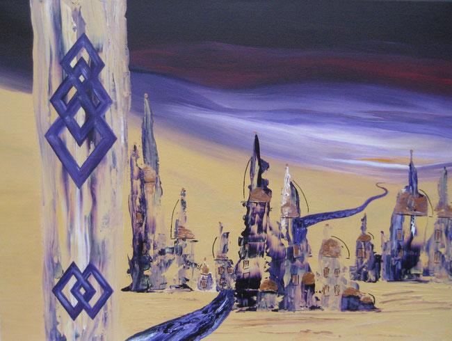 Mekong, 50 x 70 cm, Acrylfarbe
