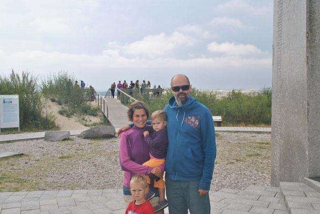 Familienfoto, Baltikum, Litauen, Kurische Nehrung, Reisen mit Kind