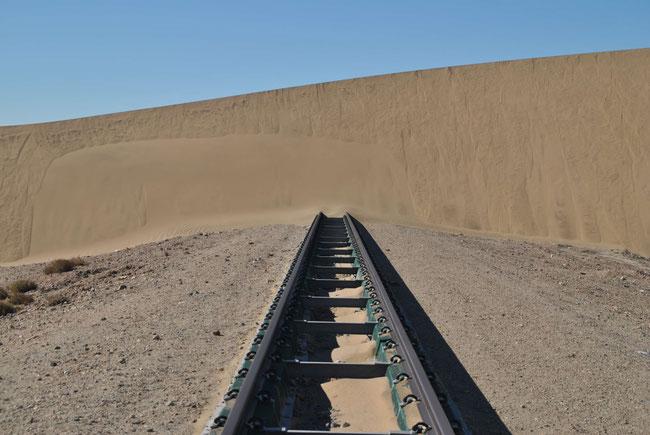 Kolmannskuppe, Kolmanskop, Namibia, Sand, Zug, Gleise, Diamanten, Lüderitz