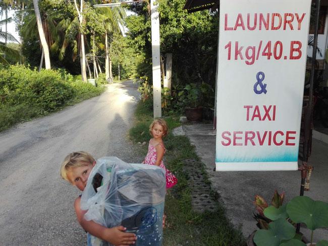Wäsche waschen Thailand