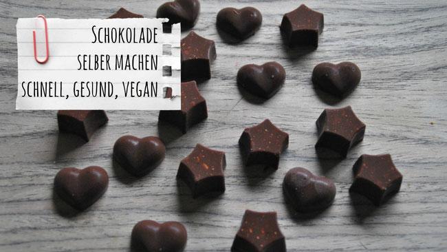 Selbstgemachte Schokolade, Rezepte