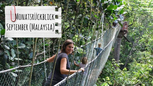 Monatsrückblick September, Malaysia, Weltreise, Familie, Taman Negara, Hängebrücke, Canopy Walk, franzlsontour, Franzls On Tour