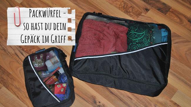 Packwürfel, Packtasche, Packing Cube, Reisebeutel, Gepäck, Rucksack, packen, Reisen, Backpacking