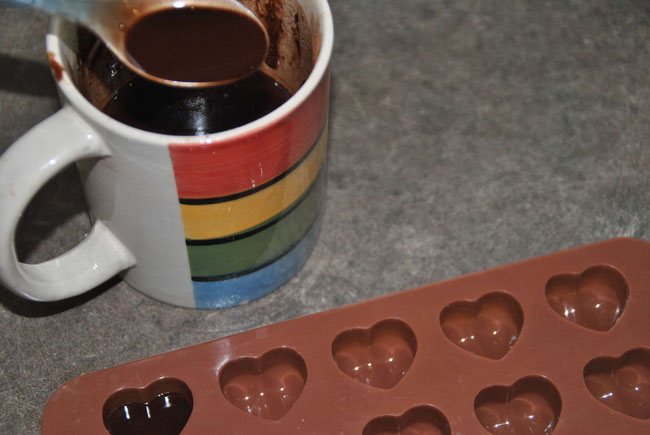 Selbstgemachte Schokolade, Rezept
