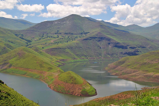 Lesotho, Afrika, Katse Damm, Berge, Natur, Reisen