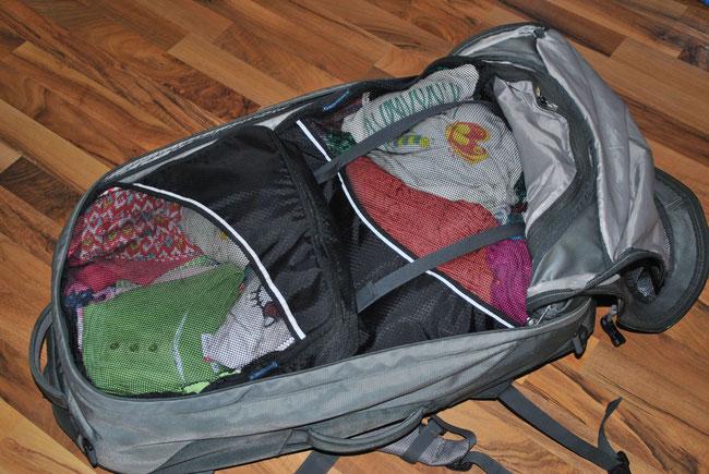 Packwürfel, Packing Cubes, Packtaschen, Rucksack, Backpacking, packen, Reise, Gepäck