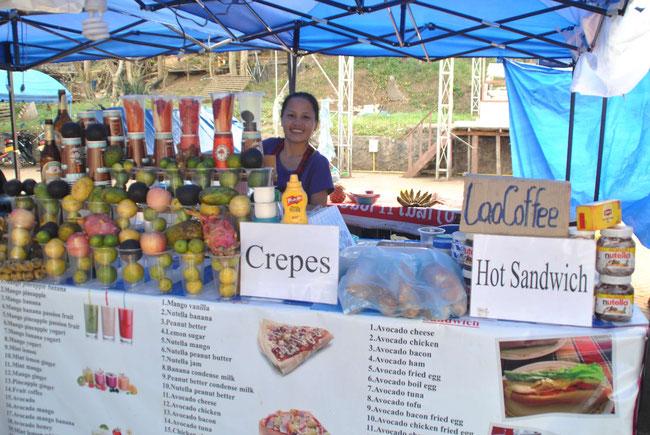 Luang Prabang, Night Market, Sandwich, Nutella, Frühstück