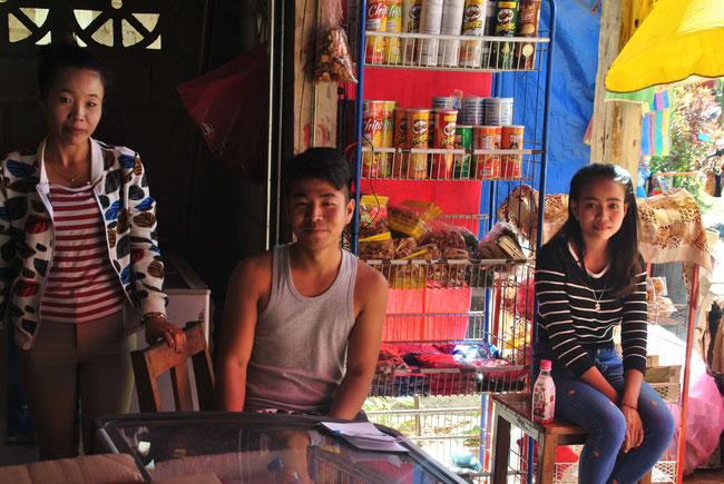 Geschäft Laos Nong Khiaw
