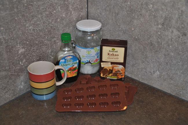 Selbstgemachte Schokolade, Rezepte, Kokosöl, Ahornsirup, Kakao, Franzls on Tour, franzlsontour