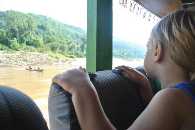 Slowboat Thailand Laos Lao Chaing Rai Luang Prabang Kids Franzls On Tour Sabbatical Familie Weltreise