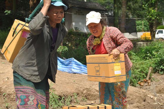 Kisten, Nong Khiaw, Laos