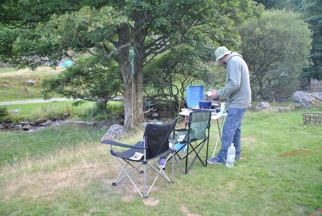 Camping, Campingkocher, Campingsessel, Campinggaz, Wales