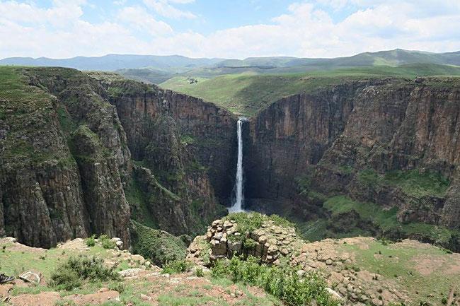 Lesotho, Maletsuyane Falls, Semongkong Lodge, Afrika, Wasserfall, Natur, Berge