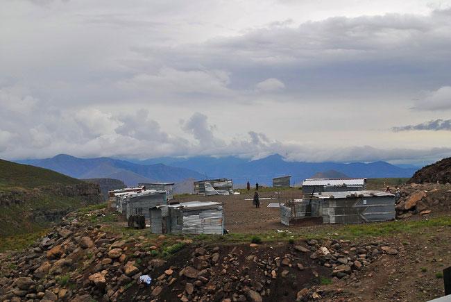 Lesotho, Berge, Wellblech, Hütten, Natur, Reise, Reisen, Afrika