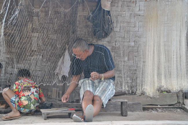 Fischer, Netz, Laos