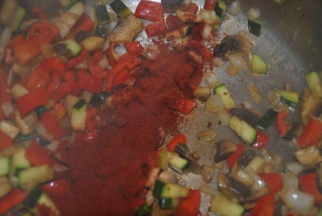 Vegetarisches Chili Zubereitung