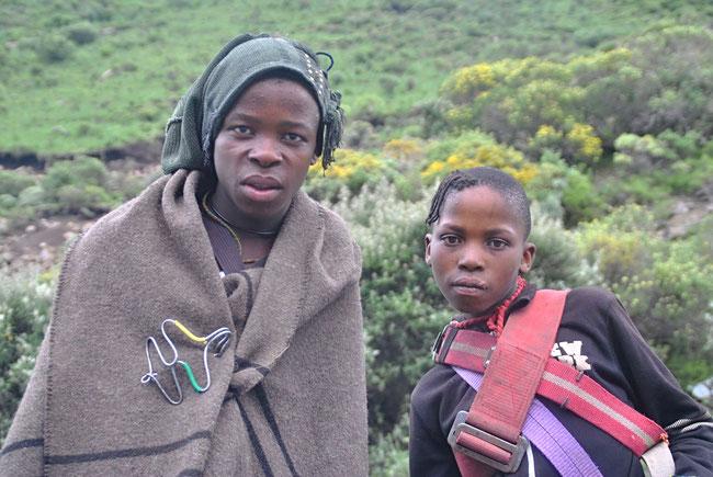 Lesotho, Basotho, Blankets, Decken, Menschen, Afrika, Reisen, Kinder, Afrikaner