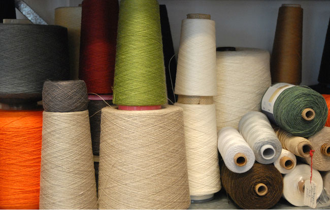 at weaving studio you can choose from wide ranche of linen yarn