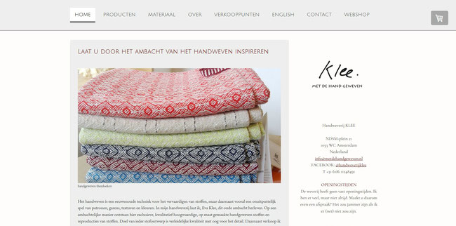 Op de Nederlandse website www.metdehandgeweven.nl vindt u veel informatie over handgeweven stoffen en ambachtelijk geweven produkten