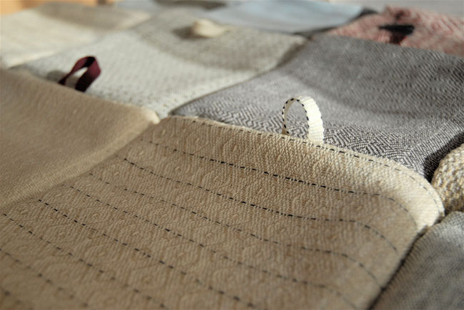masterly handwoven tea- or kitchen towel made in Amsterdam, Eva Klee