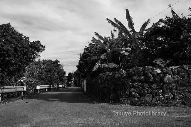 伊計島の村落 沖縄の風景