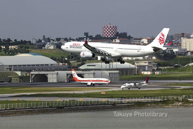 航空機写真 香港ドラゴン航空機 RAC機 JTA南西航空塗装機