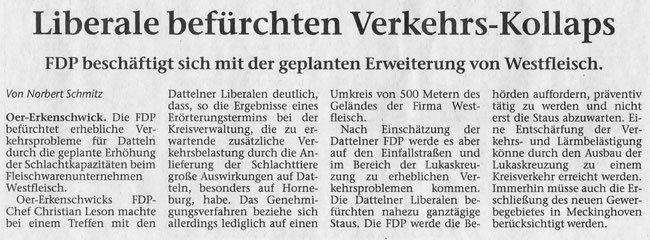 Artikel der Stimberg Zeitung vom 6.3.2018