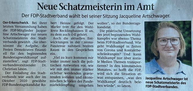 Artikel der Stimber Zeitung vom 02.03.2021
