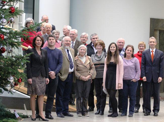 Landtagsbesuch im Dezember 2014 mit Dr. Gerhard Papke
