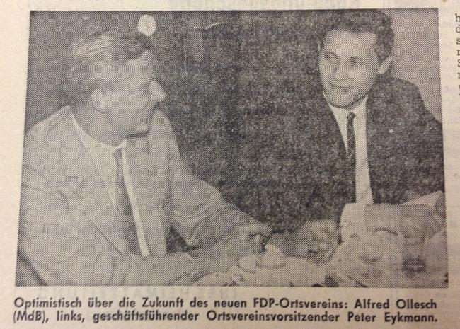 Gründung der FDP Oer-Erkenschwick 1964
