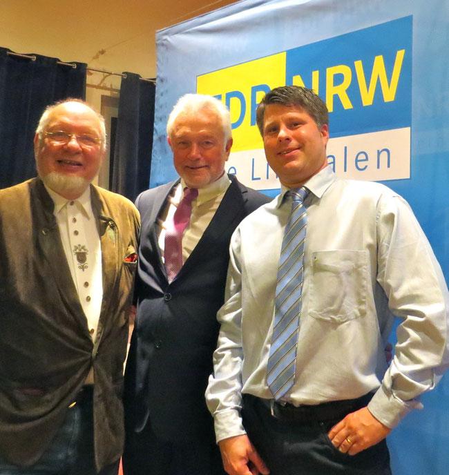 Neujahrsempfang der Kreis FDP 2014  (M. Witthus, W. Kubicki, C. Leson)