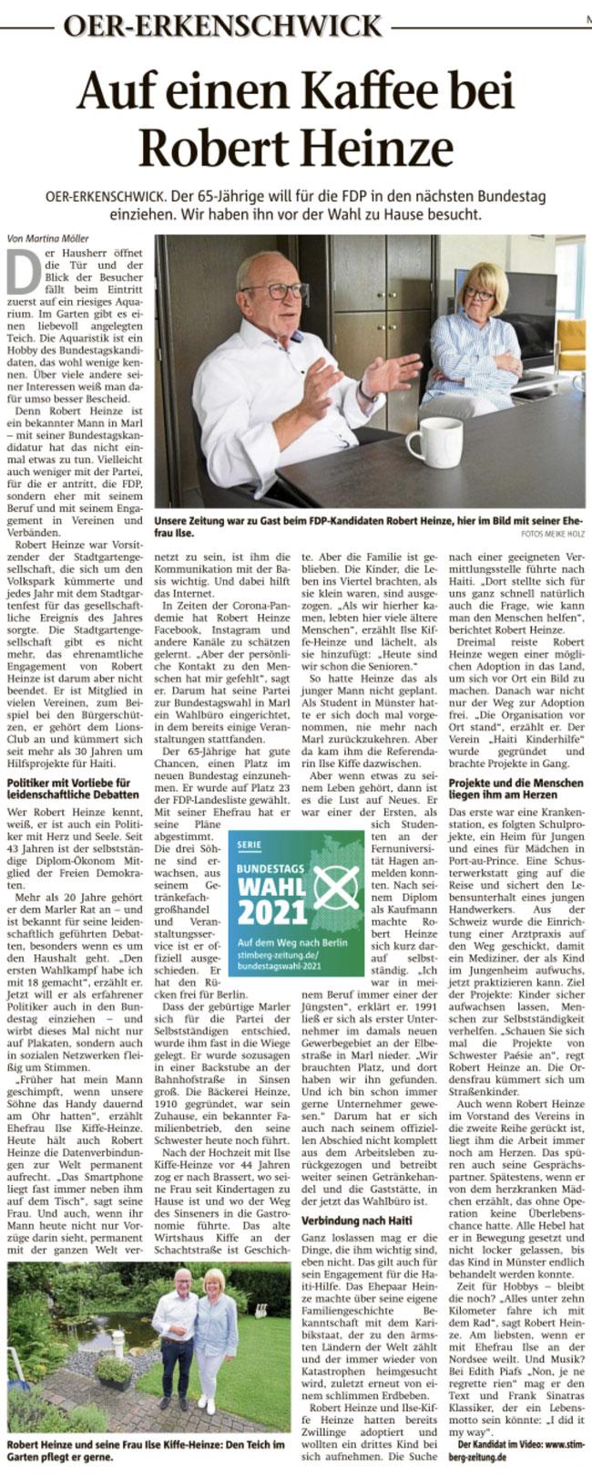 Stimberg Zeitung vom 08.09.2021