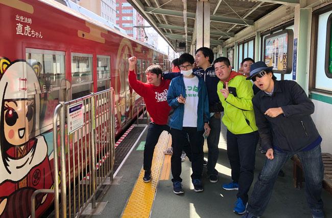 出世法師直虎ちゃんなどのキャラクターが描かれたラッピング電車に興奮!遠鉄赤電に乗りました!