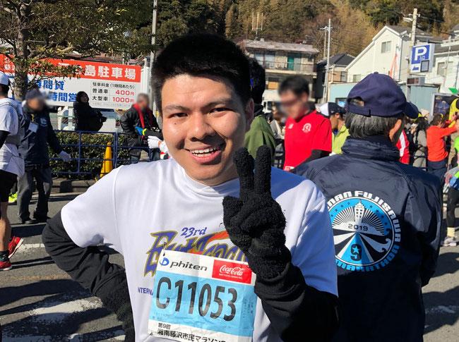 ゴール直後の楠ブーさん 「マラソンはずっと続けます」 いつまでも走り続けてね!