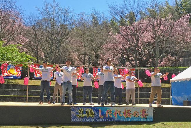4回目の出演となった「真鶴しだれ桜の宴」はっぱステージ お客さんの数はこれまでで最高でした。