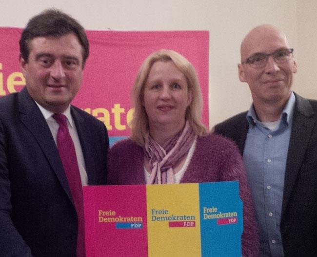 v. l.: Mathias Richter, Christine Dohmann, Dr. Andres Schützendübel