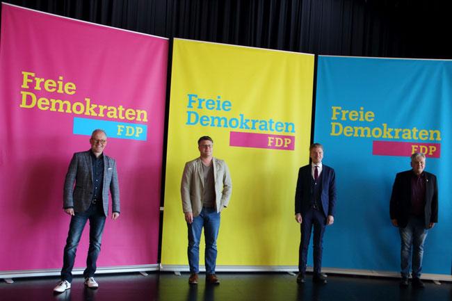 Kandidaten für die Landtagswahl, v. l.: Lutz Ludwig, Dr. Christian Leson, Robert Golda, Jörg Dorka