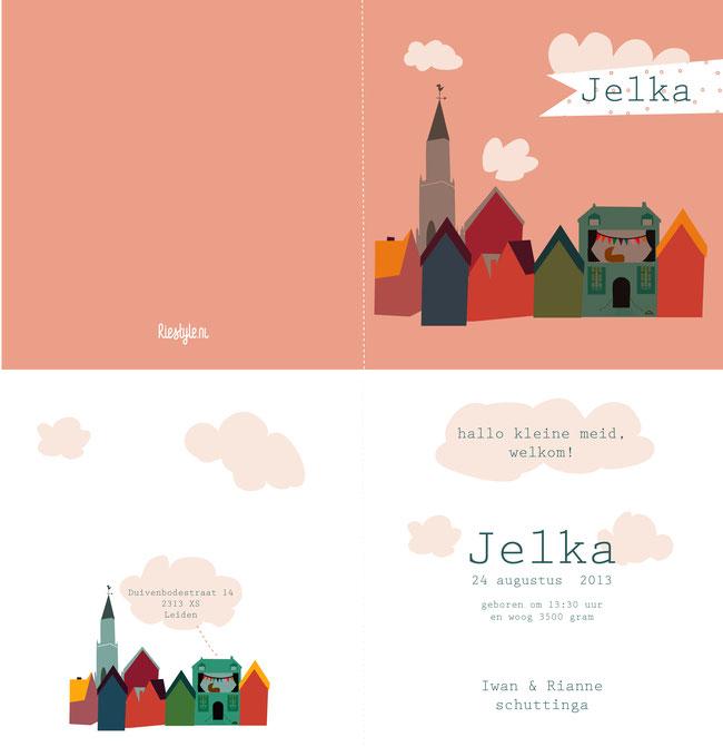 geboortekaartje Jelka