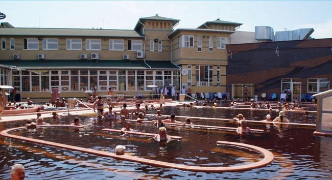 Hajdúszoboszlói gyógyfürdő - Лечебная купальня Хайдусобосло