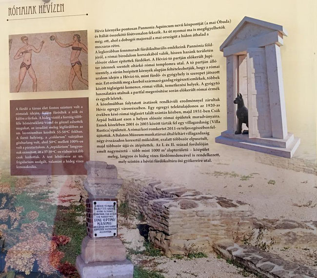 Римляне на озере Хевиз, стенд выставки истории озера