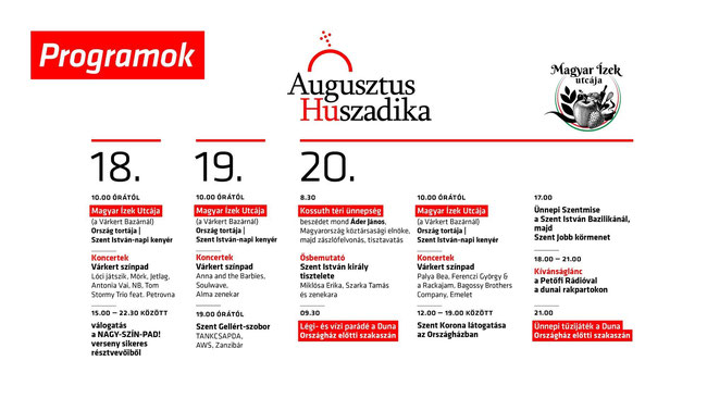 "Программа праздника на ""Улице венгерских блюд"" в Будапеште"