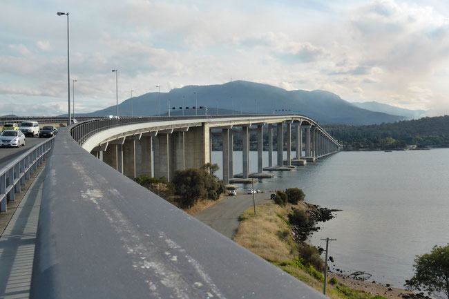 The Tasman Bridge as seen from its approaches